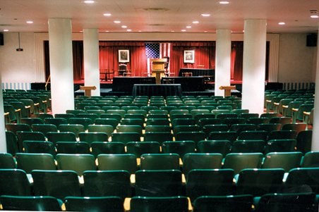 The House of Representatives room at The Greenbrier Bunker