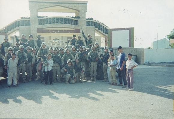 Shane-Iraq w platoon on donkey