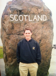 In 1999 at the borderlands of Scotland and England, my first visit there.
