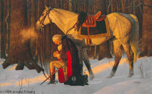 The Prayer at Valley Forge, Arnold Friberg's most well known painting. (courtesy of Wikipedia)