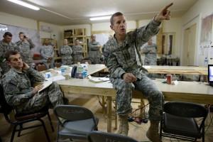 McChrystal leading his team